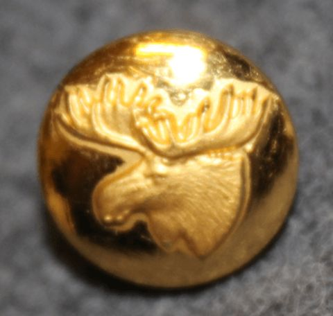 Moosehead, swedish hunters association. 13mm, old model, gilt