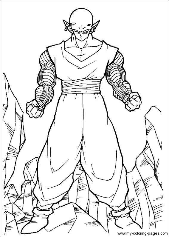 dragon ball z coloring pages - Dragon Ball Goku Coloring Pages
