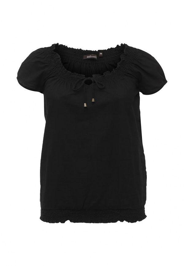 Блуза Emoi  Блуза Emoi. Цвет: черный.  Сезон: Весна-лето 2016. Одежда, обувь и аксессуары/Женская одежда/Одежда/Блузки и кофточки