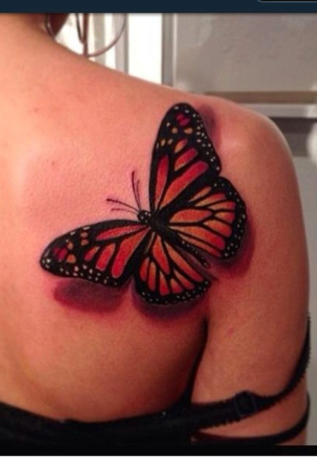 Thinking About A Butterfly Tattoo On Right Shoulder Blade With Kids