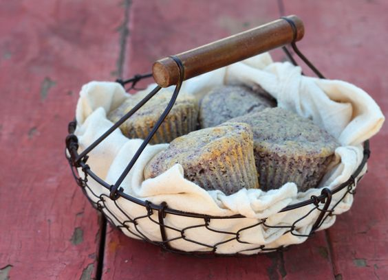 Blue Corn Muffins for 2 (6 muffins). They're also delicious with 3 tablespoons of shredded cheddar and 2 tablespoons chopped pickled jalapenos stirred in before baking. Can subsitute yellow or white cornmeal (stoneground). From Dessert for Two