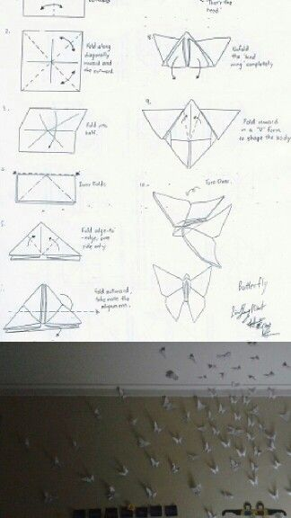 Origami - Butterflies - Easy