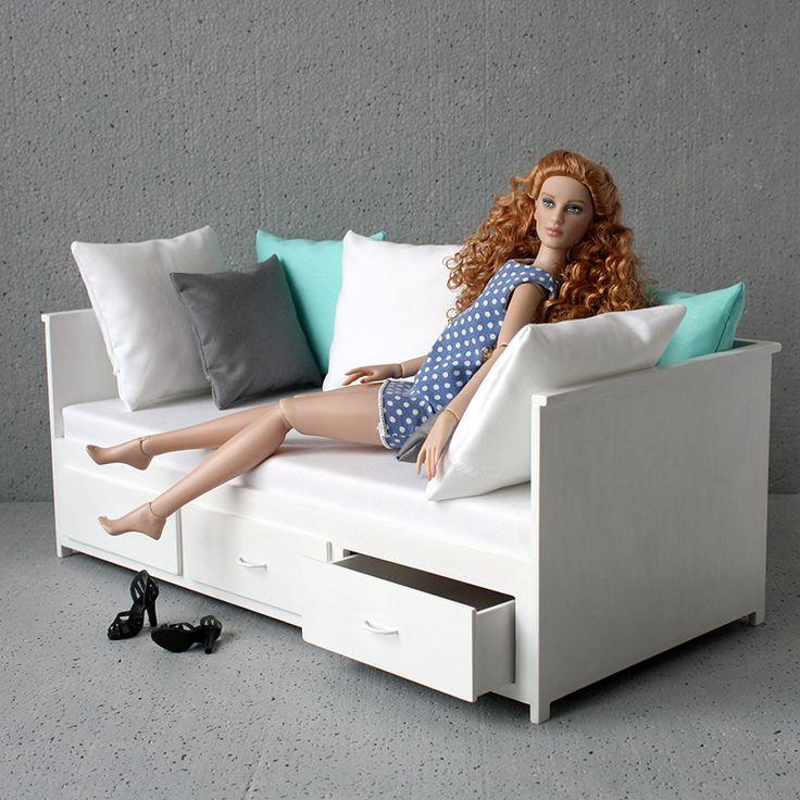 MINIMAGINE * furniture for dolls: daybed 420-03  #furniturefordolls by #minimagine