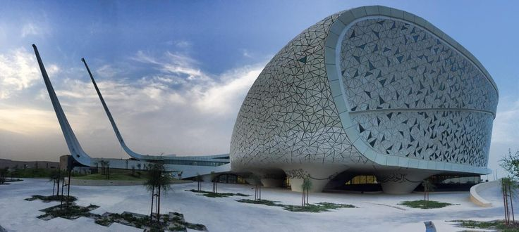 Wow, this new mosque in Qatar looks like an airplaine?!