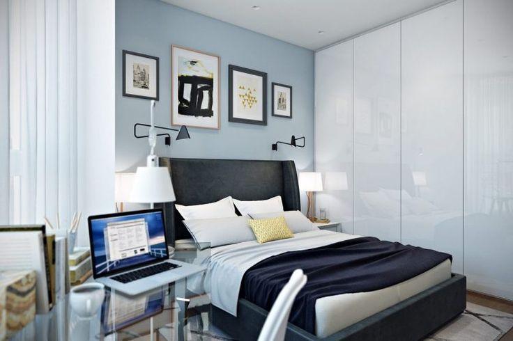 Fiatal pár új építésű kétszobás, 41m2-es lakásának berendezése - nem szokványos alaprajz, modern és retro elemek
