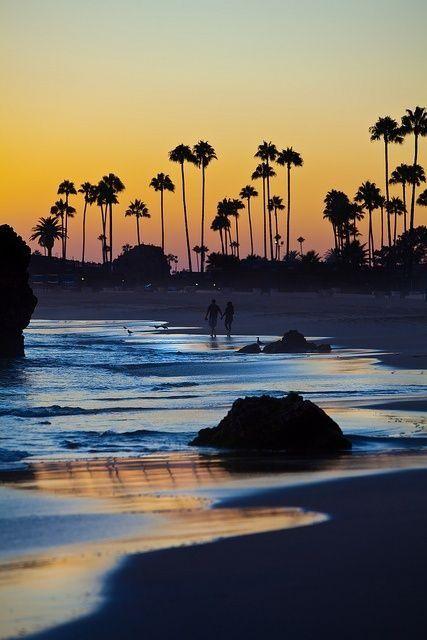 great images: Sunset in Corona Del Mar California.