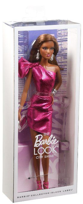 Amazon.com: Barbie: The Look City Shine African-American Doll: Toys & Games