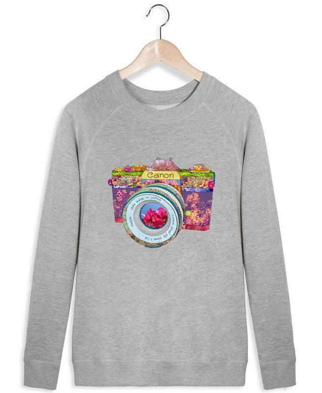Floral Camera - Bianca Green - Women's Sweater