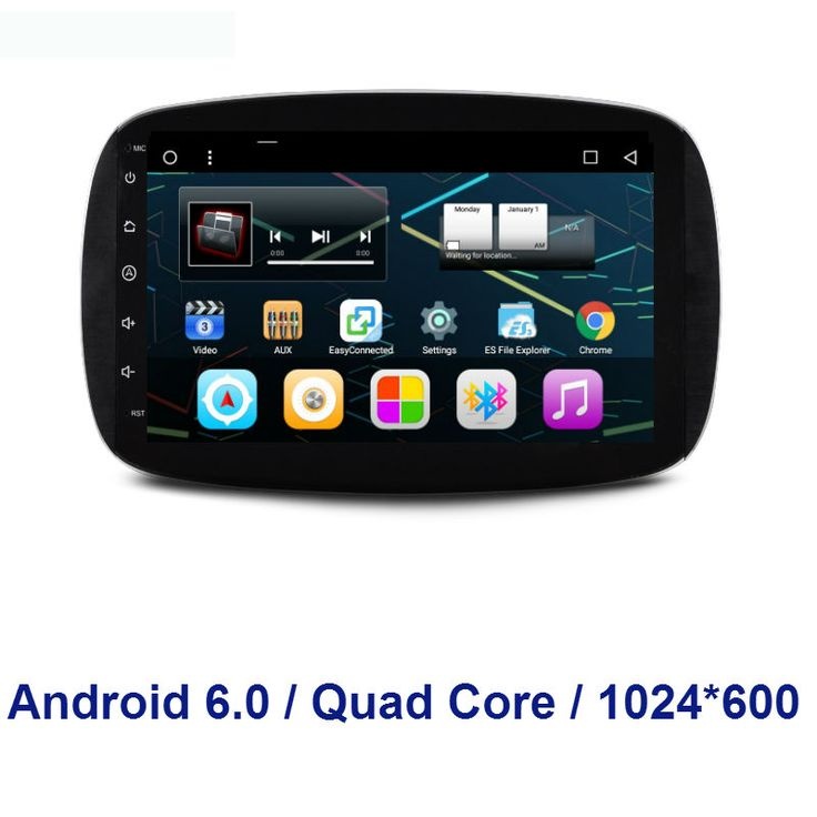 2 din Quad Core Android 6.0 CAR stereo Radio DVD GPS Navigation FOR Mercedes Benz  Smart 2016 mirror link bluetooth 3G RDS WIFI