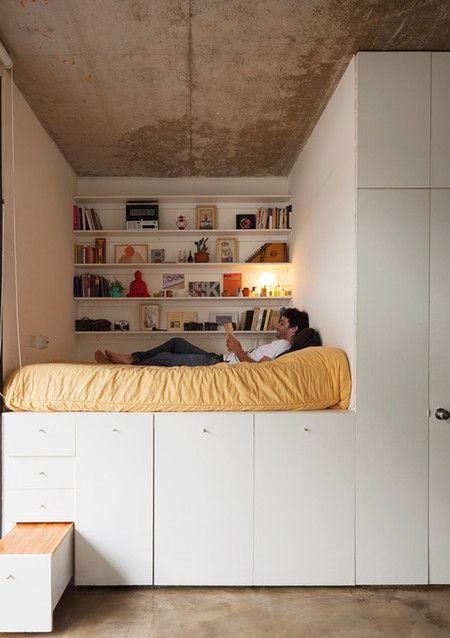 17 mejores ideas sobre dormitorio peque o en pinterest - Ideas dormitorios pequenos ...