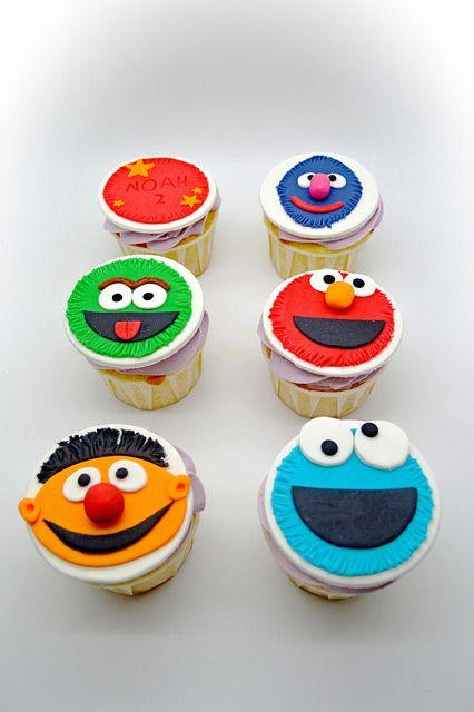 Cupcakes del Barrio Sésamo