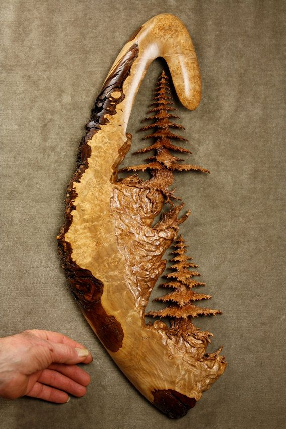 Tree Wood Carving Ooak 5th Wood Wedding by TreeWizWoodCarvings