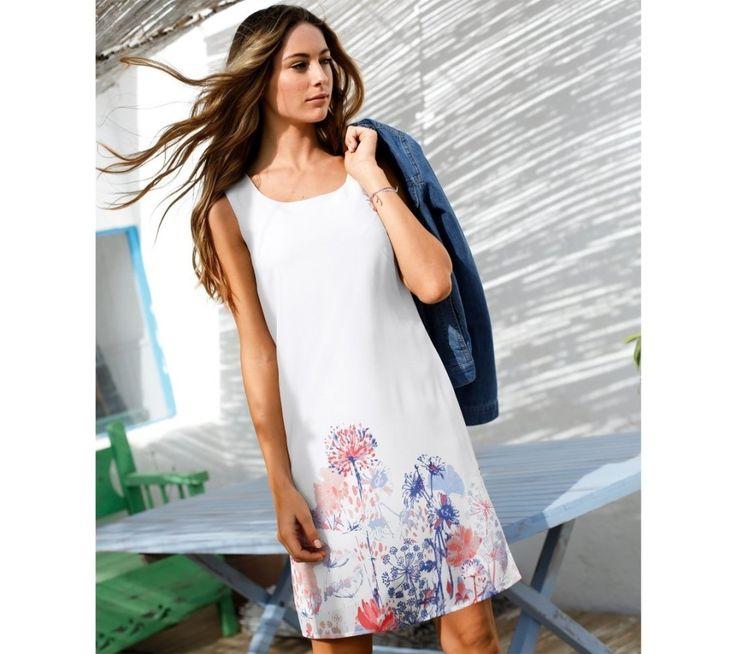 Voálové šaty bez rukávů, s potiskem | blancheporte.cz #blancheporte #blancheporteCZ #blancheporte_cz #newcollection #jaro #leto #summer #spring