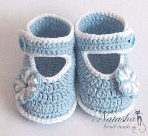 Patron para tejer zapatitos para bebes a crochet