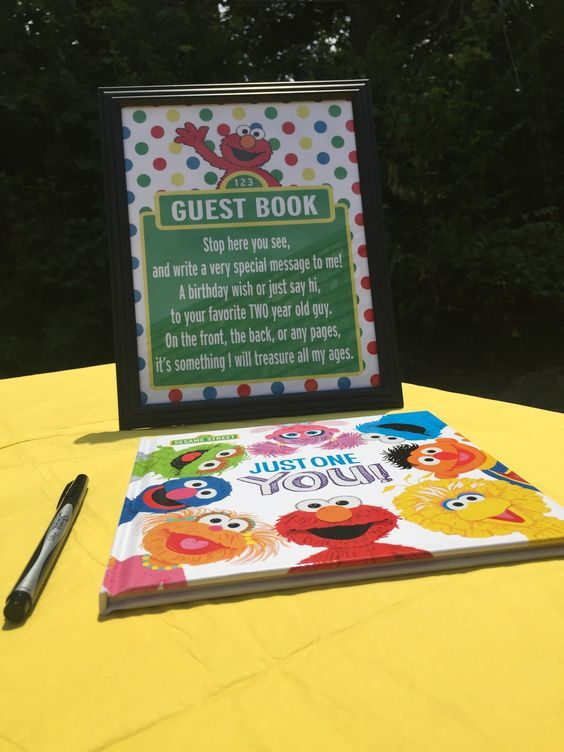 "img src=""httpwww.theparkwayevents.jpg"" alt=""San Francisco Bay Area Event Planner Sesame Street Birthday Party Guest Book"".JPG"
