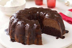 Triple Chocolate Mousse Cake, simple... delis.. long prep in fridge.... JB