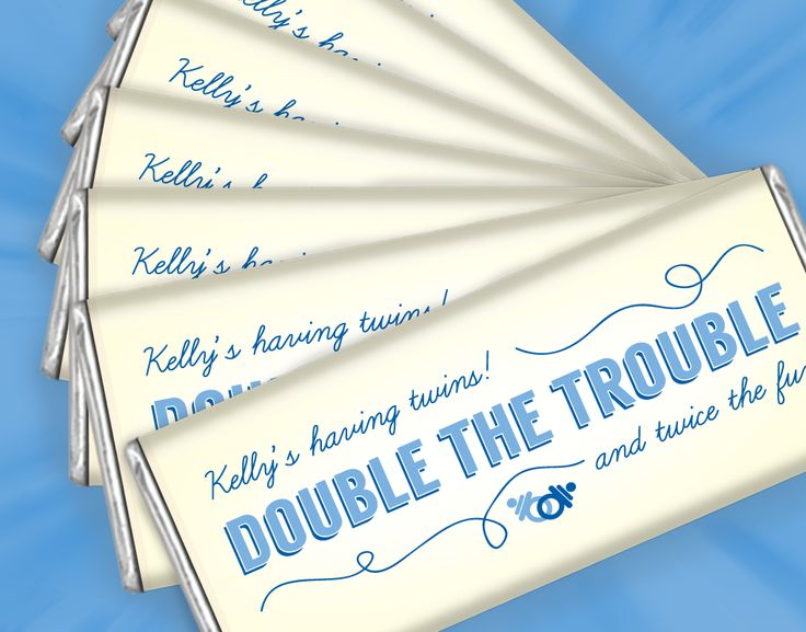 double the trouble baby boy baby shower favors