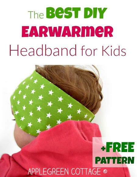 Sew an easy headband for your babies that keeps their ears warm! Download this free DIY ear warmer headband pattern today and get ready for winter.