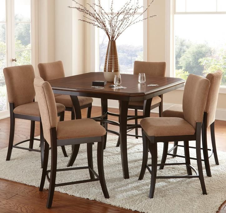 Steve Silver Derrick Derrick Counter Height Dining Set With Upholstered    Great American Home Store   Nice Design