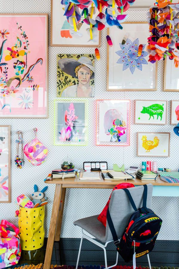 A gallery wall to inspire creativity.