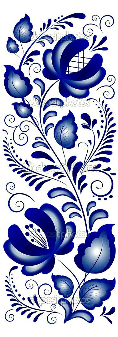 Gzhel - a brand of Russian ceramics has special white and blue floral ornament | The House of Beccaria