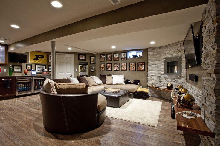 Sport basement ideas basement transitional with riverside construction riverside construction sports theme basement sports theme basement