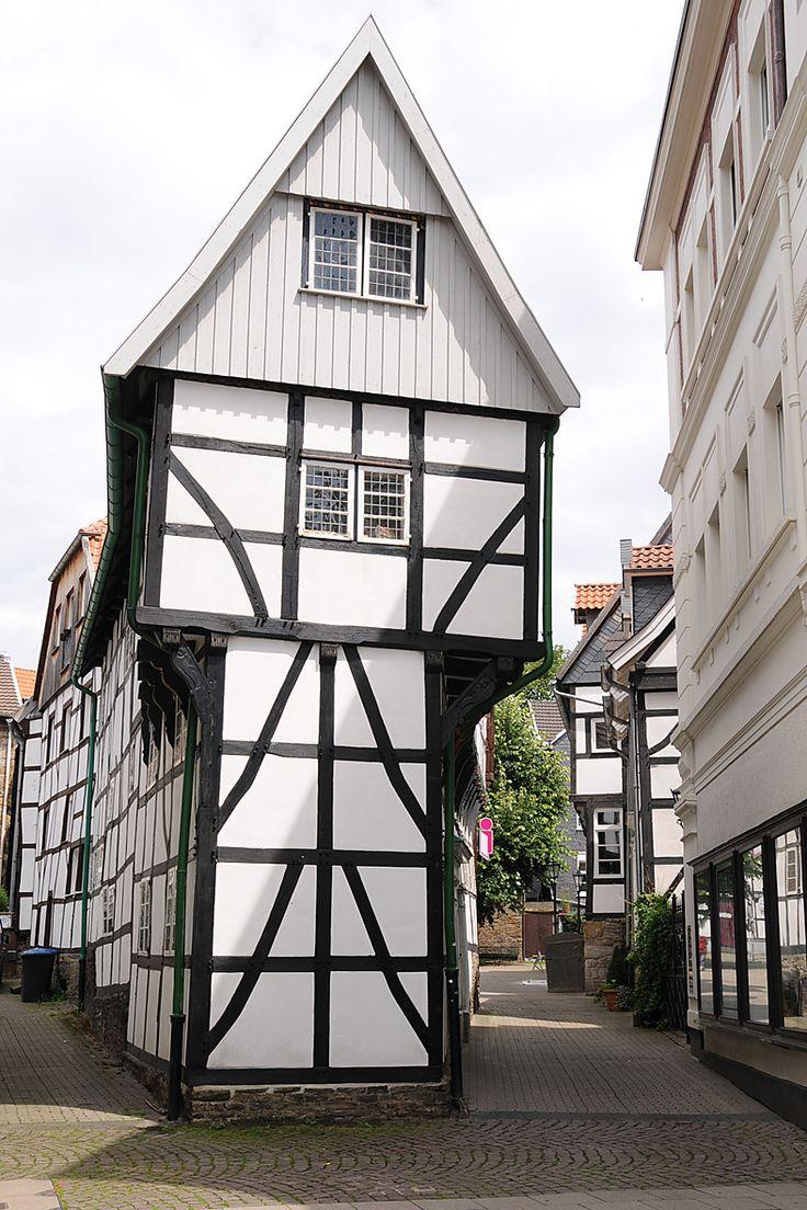 Timber houses in Hattingen_ Germany