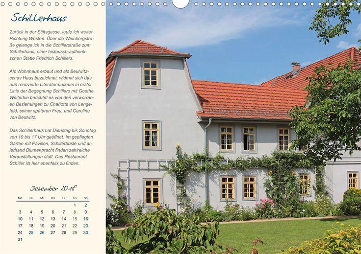 """Städte- und Regionalkalender """"Rudolstadt – mein Spaziergang durch den historische Stadtkern"""", Kalenderblatt Dezember: Schillerhaus"""