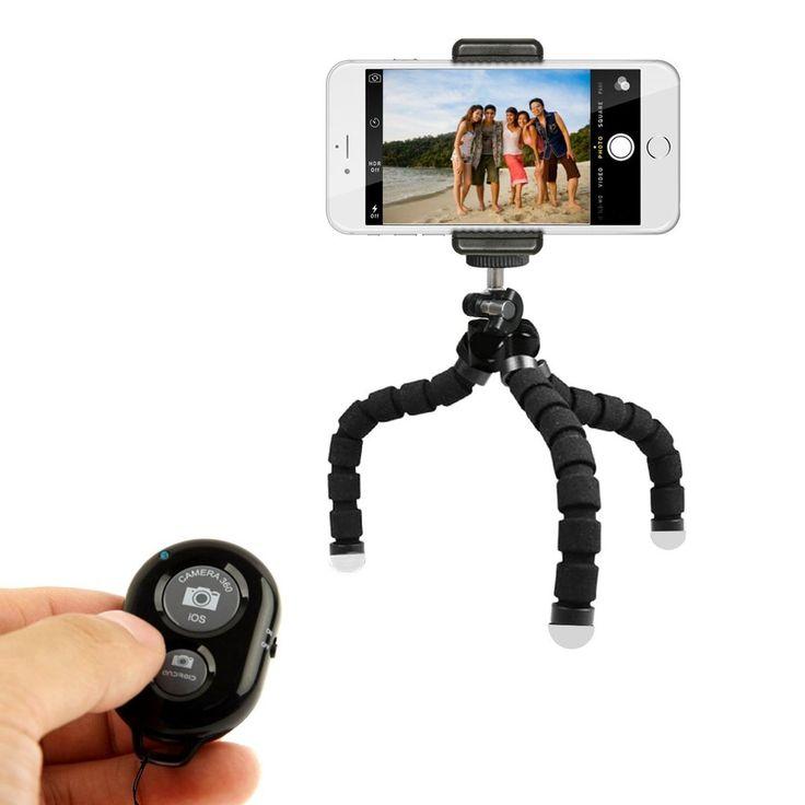 Mini Phone Tripod Stand - TriFlex Mini - Flexible iPhone Tripod for Any Smartphone