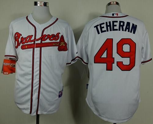 "$23.88 at ""MaryJersey"" (maryjerseyelway@gmail.com) #49 Julio Teheran, #29 John Smoltz - Braves White Cool Base Stitched MLB Jersey"