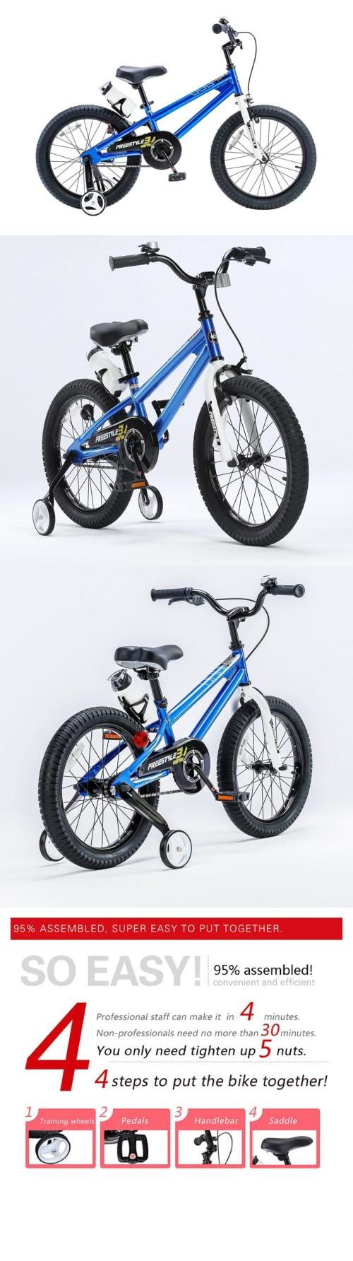 Training Wheels 177839: Bmx Freestyle Kids Bike Boy Royalbaby Bikes Girl Training Wheels 14 Blue New -> BUY IT NOW ONLY: $115.37 on eBay!