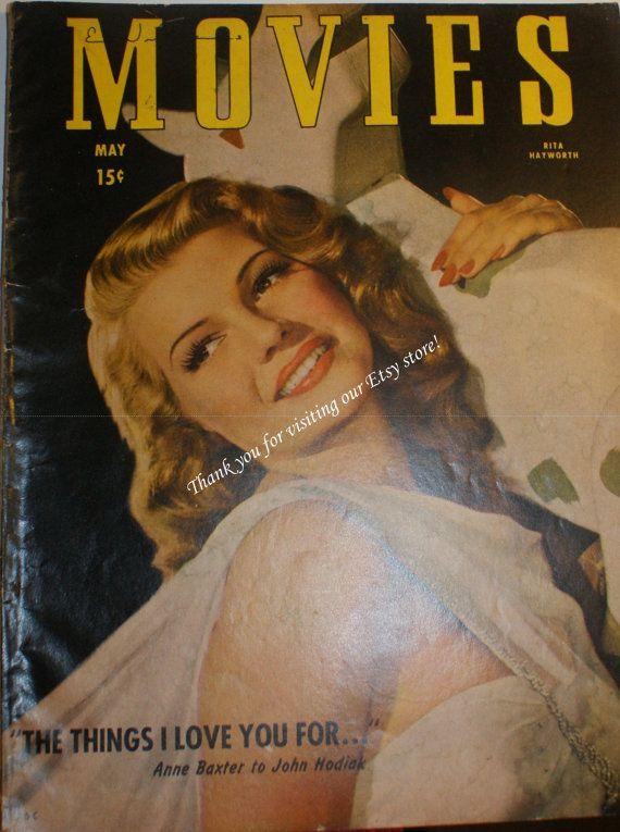 May 1947 Movies Magazine, Rita Hayworth Cover @jammatun Welcome Welcome $7.99 #looksgoodonya