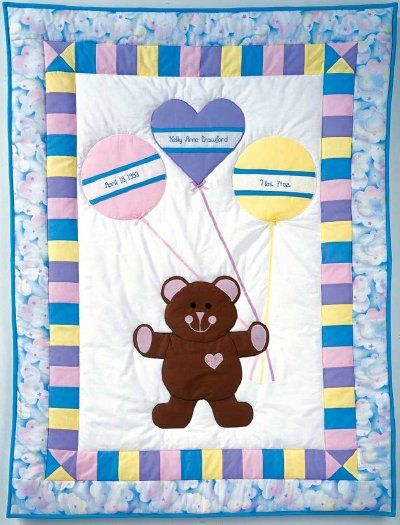 Make the Birth Bear baby quilt pattern to commemorate a special baby's birth. Download instructions and the free quilt pattern at HowStuffWorks.