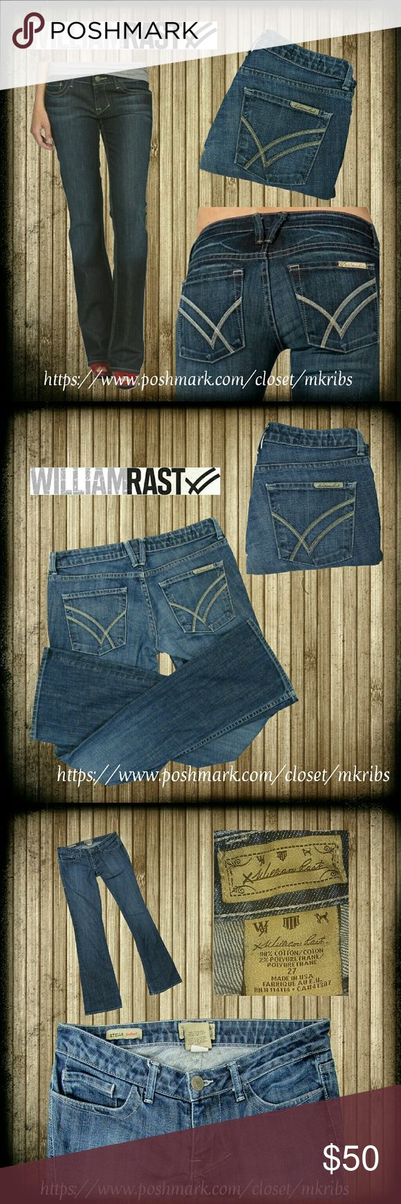 💜 William Rast Stella bootcut jeans 27 x 34 Like new! William Rast Stella Lowrise bootcut jeans with stretch.  34 inch inseam. First photo with jeans modeled is stock of the exact style. All other are taken by me. Color best represented in the 2nd photo. Measurements and details in photos. NO TRADES PLEASE! OFFERS WELCOME THROUGH OFFER FEATURE ONLY PLEASE William Rast Jeans