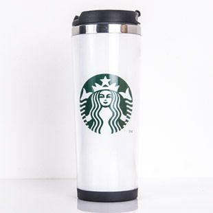 Acero inoxidable Starbucks dobles Tazas de Viaje estancos tazas Vuelve a la par de taza de café