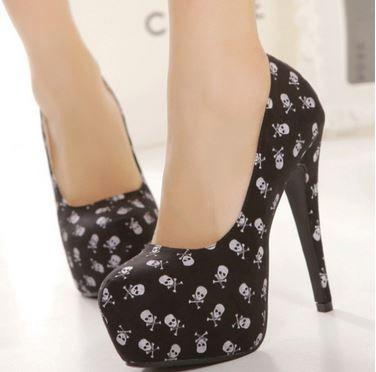 Hot High Heel Platform Skull Shoes