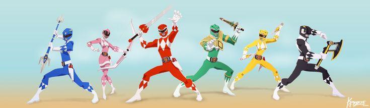 Go go Power Rangers /// by ~Kristele on deviantART