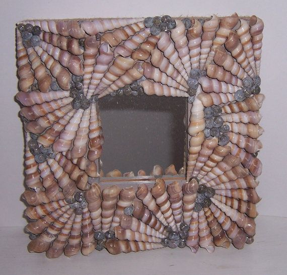 "Shelled mirrors Turritella spiral shell mirrors by PaulaDsArt, $50.00 10"" x 10"""
