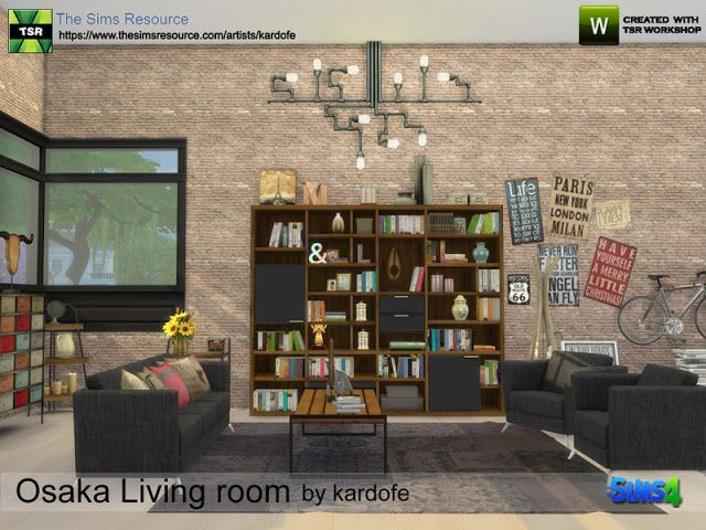 Sims 4 CC's - The Best: Osaka Living room by Kardofe ...