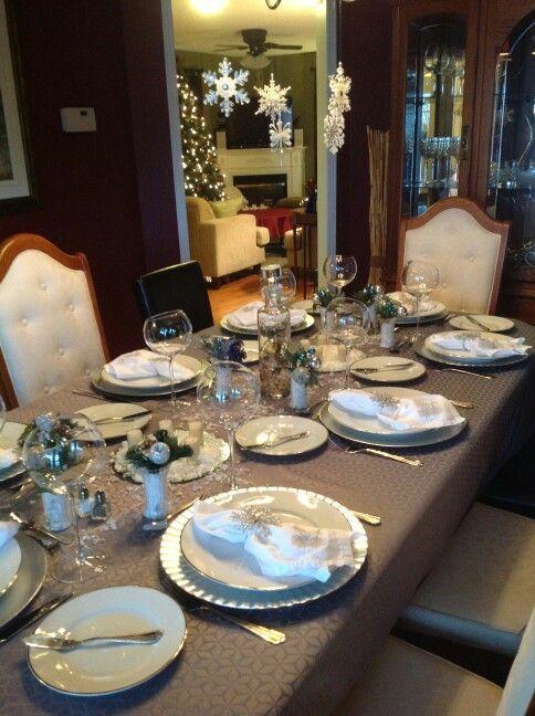Winter Wonderland Table Settings Part - 44: Winter Wonderland Table Setting