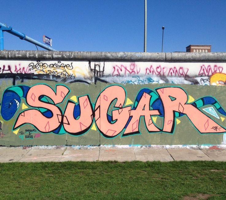 #berlin #mauer #eastsidegallery #wall #berlinwall #friedrichshain #graffiti #sugar