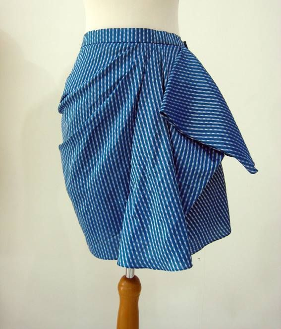 Vera Skirt In Chic Azure Blue Color  For custom sizing and to order please email us at nmayinda@gmail.com or Whatsapp us at 08111047891.