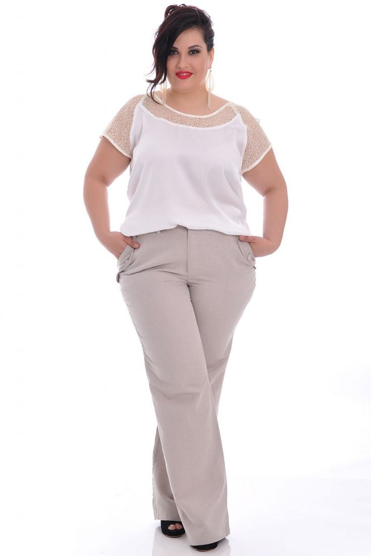 Calça Marfim - VK Moda Plus Size                                                                                                                                                      Mais
