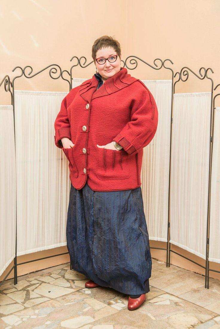 Купить Жакет из валяной шерсти - жакет, жакет женский, одежда для полных женщин, одежда для полных