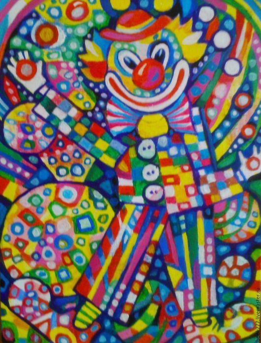 Фантазийные сюжеты ручной работы. Ярмарка Мастеров - ручная работа. Купить Льются добрые улыбки Из его огромных глаз. Handmade.