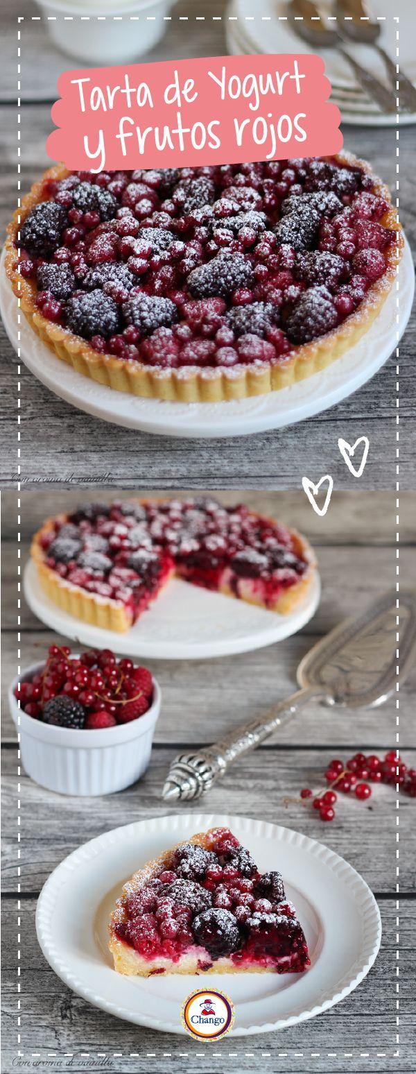Para ver la receta, ingresá a: http://blog.azucarchango.com.ar/blog/post/Tarta%20de%20Yogurt%20y%20Frutos%20Rojos/561