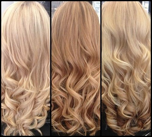 Light  Blonde, Strawberry Blonde and Dark Blonde hair. I want one of these.