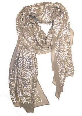 Sparkly Scarf - great way to add some fun to a simple jeans and tee.   I NEED this