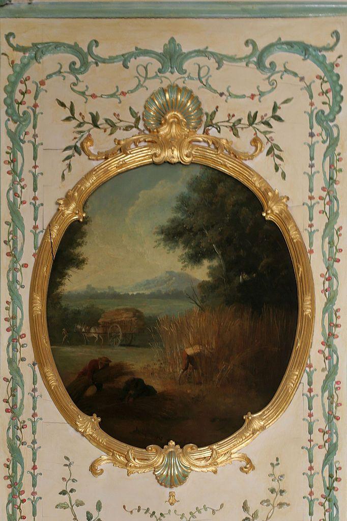 Jean-Baptiste Oudry (1686–1755)   Été ou La Moisson   Fait partie d'un ensemble de 4 tableaux champêtres sur le thème des quatre saisons, peint en 1749 pour le cabinet intérieur de la Dauphine de Château de Versailles.