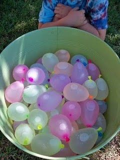 Couldn't wait for summer to have a water balloon fight  with my cousins.
